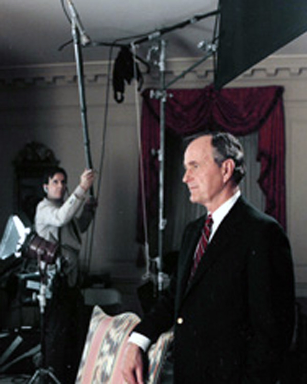 On location with President Bush (41)